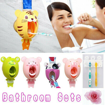 Extrusion Cartoon Toothpaste Squeezer Automatic Mouthpiece Pressing Device