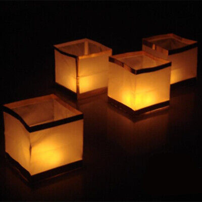 Chinese Square Wishing Lantern With Candle Floating Water River Light Lamp 10pcs