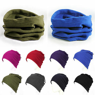 Men Women Warmer Balaclava Neck Motorcycle Fleece Tube Face Mask Scarf Snood New