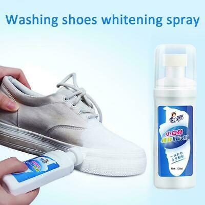 Whitener Cleaner Sports Leather Canvas Shoe Trainer White Clean Boot 100ml W3K0