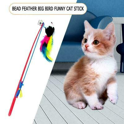 Cat Feather Mouse Stick Toy Funny Kitten Playing Rods Interactive Pet Toys K8H0