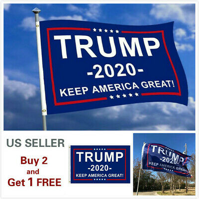 3x5 Ft Trump 2020 Keep America Great President Donald MAGA Flag US Blue
