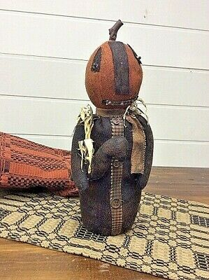Primitive Jack and Friend Doll Halloween/Fall Pumpkin JOL Grubby