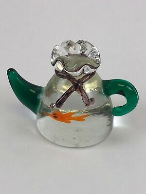 Sea Penguins Glass Paperweight in Gift Box Christmas Present AB-101PW