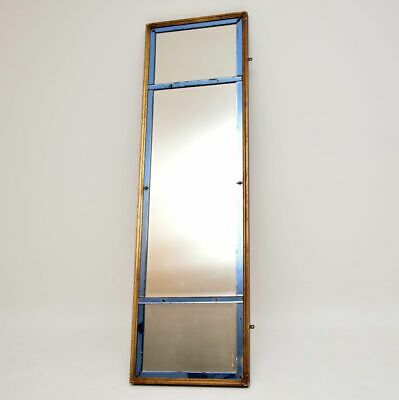 Antique Venetian Gilt Wood Coloured Glass Mirror
