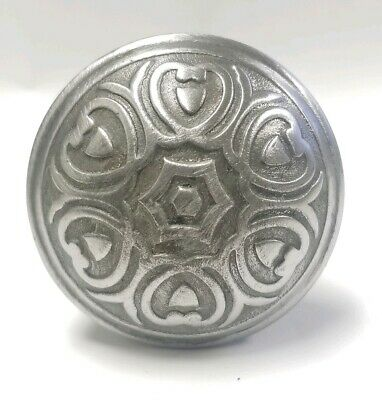 "Antique Ornate Metal Door Knob (single) w Spindle 2 1/4"" E164"