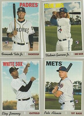 2019 Topps Heritage High Number (501 - 700) U-Pick Complete Your Set Guerrero Rc