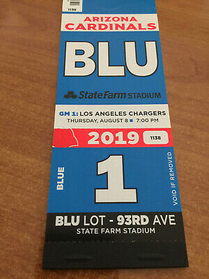 2019 Nfl Arizona Cardinals Season Parking Pass Passes - Blue Lot All Home Games