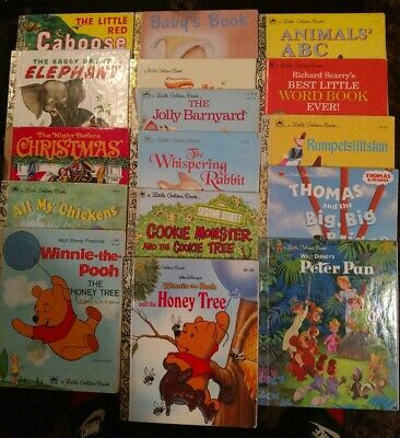 Lot of 15 -- Little Golden Books – MIX/Unsorted – Disney  & Classic (Pre-owned)