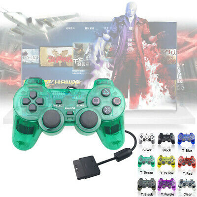 Transparent USB Wired PS2 Game Controller Handle Joystick For Sony Playstation 2