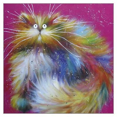 'Spangle' Funny Cat Greeting Card by Kim Haskins Humorous Greetings Cards Blank