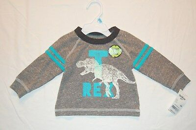 NWT OshKosh 6 months L/S Shirt Dinosaur T-rex Glow in the dark