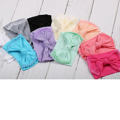 Kids Girls Baby Toddler Turban Knotted Headband Hair Band Headwear Accessories