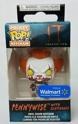 Funko Pop Pocket Keychain Pennywise with Skateboard  IT Chapter 2 Walmart Exclus