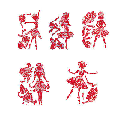 Christmas Girl Metal Cutting Dies Stencil Diy Scrapbooking Paper Cards Crafts