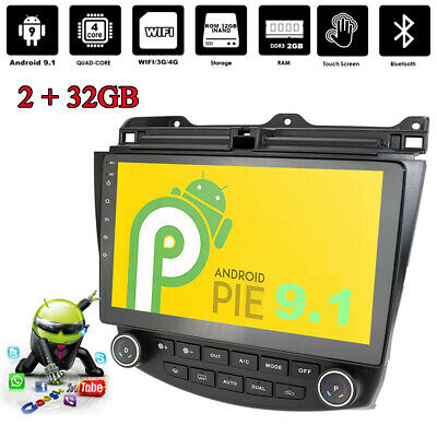 """10.1"""" Android 9.1 Quad-core 2+32GB Car Stereo Radio GPS Player For Honda Accord"""