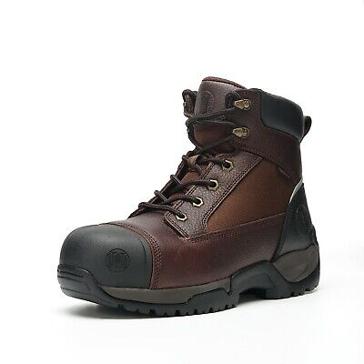 Work Boots for Men Composite Toe Waterproof Safety Working Shoes Genuine Leather