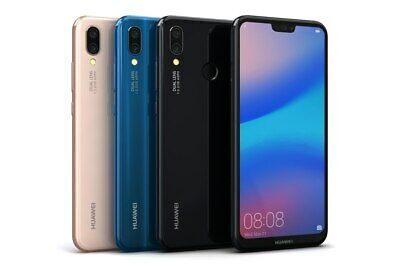 HUAWEI P20 LITE 64GB - UNLOCKED - Black / Blue / Pink - Smartphone Mobile Phone
