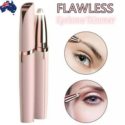 Flawless Electric Eyebrow Trimmer Painless Epilator Razor Eye Brows Hair Remover