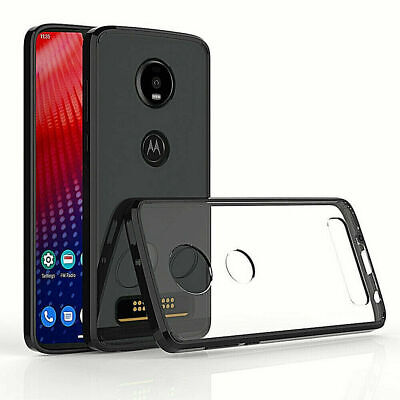 For Motorola Moto Z4 Transparent TPU Hybrid Cover Case