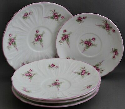 5 Shelley  Teacup Saucers/Saucers Only-Bridal Rose  M375