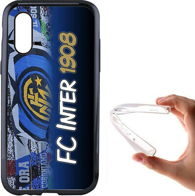 Cover Inter iPhone 5 6 7 8 S X XR XS in silicone ultra flessibile