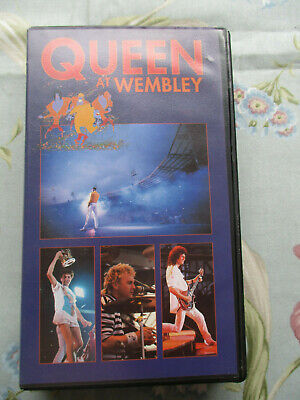 Queen Live At Wembley 1986 - 1990 Reprint Vhs Video Tape Uk Pal System