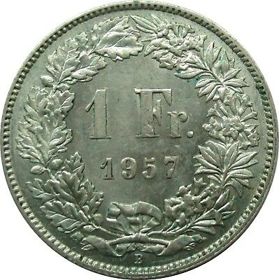 Top Condition: Switzerland 1 Swiss Francs 1957, Helvetia
