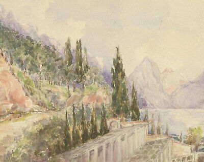 Two Early 20th Century Watercolours - Continental Landscapes