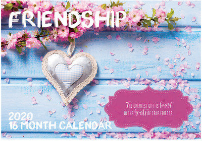 Friendship - 2020 Rectangle Wall Calendar 16 Months by Artwrap (B)