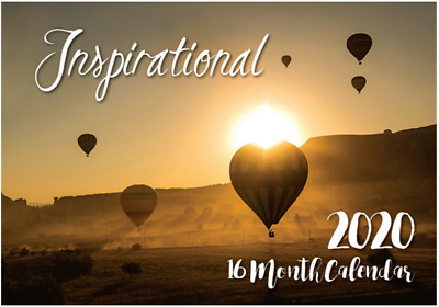 Inspirational - 2020 Rectangle Wall Calendar 16 Months by Biscay (A)