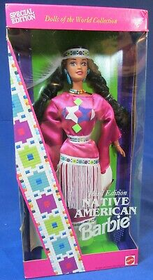 1994 Native American Indian Barbie – Dolls of the World – Special Edit – 3rd Edi