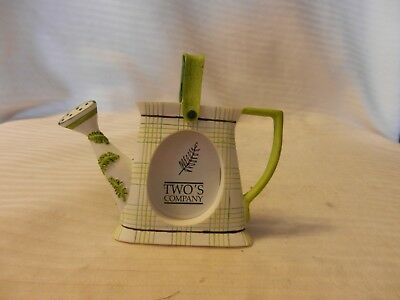 "Small Green & White Watering Can Picture Frame for 1.5"" Picture Two's Company"