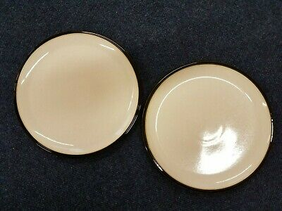 X2 Denby - Everyday - Black Pepper - Dinner Plates 10.5""