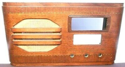 vintage WARD;'S AIRLINE 6D4-1  TABLETOP RADIO:  SHELL w/ GRILL CLOTH