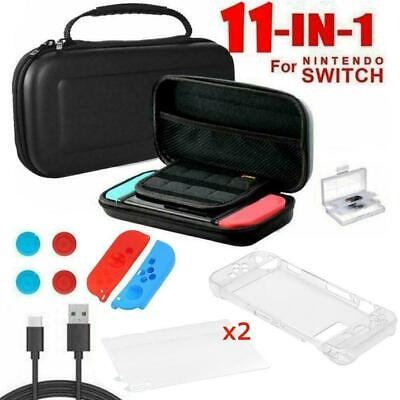 for Nintendo Switch Case Bag+Shell Cover+Charging Cable+Protector Accessori L5W6