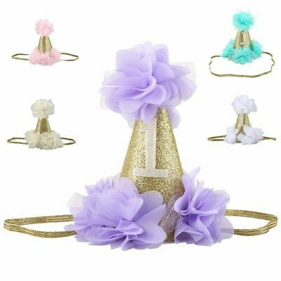 1X(Baby Girl Headband Lace Hairband Girls Pearl Flower Headbands Hair Acces@J4J3