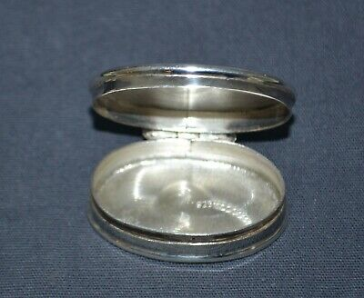 Small Sterling Silver Hinged Pill Case