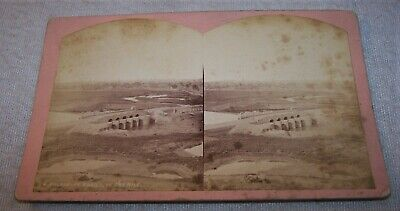 1870's SV Photo - Town of Assiut / Asyut, Egypt on the Nile River - Libyan Hills