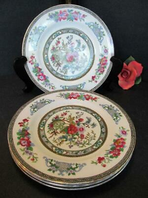 "4 PARAGON BONE CHINA PLATES TREE of KASHMIR 7 7/8"" DESSERT / SALAD"