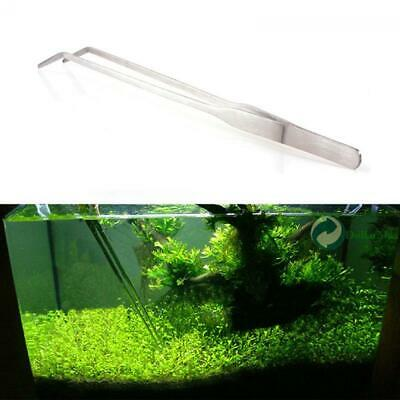 Useful Aquarium Tank 27CM Curve Scissors Tweezers Stainless Steel