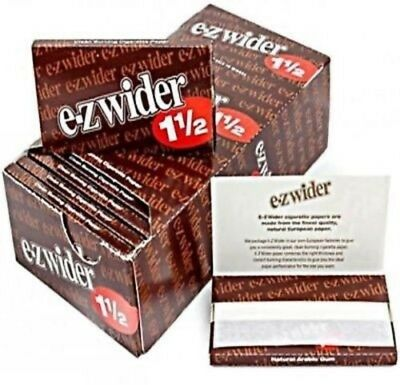 EZ Wider 1 1/2 Rolling Papers 24 Booklets Buy 5 Get 1 Free