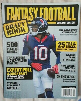 FANTASY FOOTBALL 2019 DRAFT BOOK Magazine 24th Season 25 Tips & Tricks New
