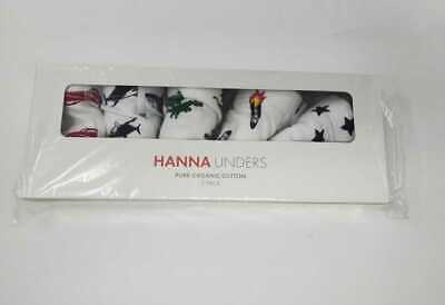 New Boys Xs Hanna Andersson Unders 5 Pack Boxer Briefs In Organic Cotton