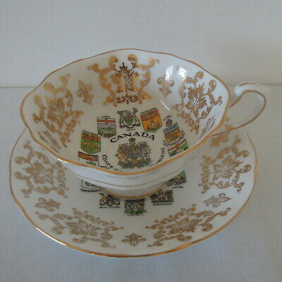 Paragon Cabinet Cup and Saucer Canada with Coat of Arms and Emblems