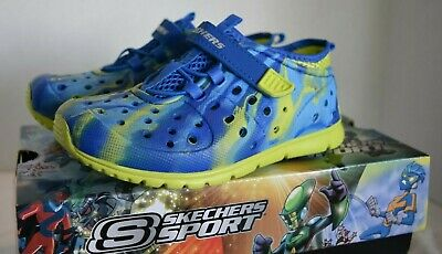 SKECHERS LITTLE BOYS Hydrozooms Solar Swell Sandals Toddler Beach Shoes Sz 10