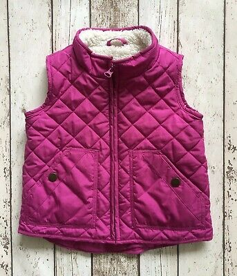 Gap Toddler Girl Quilted Gilet Jacket With Fleece Lining 3 Years