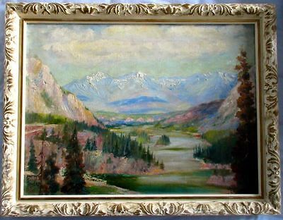 Matthew C. Towers,  Valley in Banff Known Canadian Artist Original Oil Painting