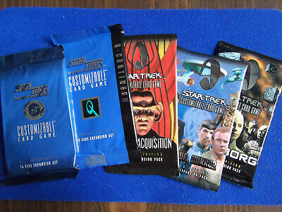 VOYAGER MIRROR /& TRIBBLES AU STAR TREK CCG 5 BOOSTER BOX LOT : REFLECTIONS