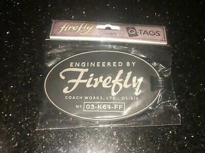 QMx Firefly Cargo Loot Crate Q Tags Serenity Firefly Luggage Tag NEW
